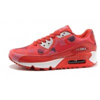 Nike Air Max 90 PREM TAPE Womens Shoes New Red
