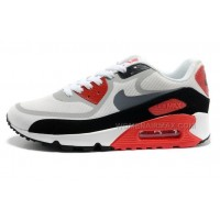 Nike Air Max 90 PREM TAPE Womens Shoes New Grey Red