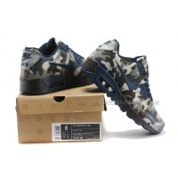 Nike Air Max 90 Womens Shoes HYP KPU TPU 2014 New Camo Dark Blue