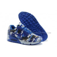 Nike Air Max 90 Womens Shoes HYP KPU TPU 2014 New Camo Sky Blue