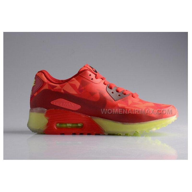 Nike Air Max 90 25TH Anniversary ICE Diamond Mens Running Shoes Transparent Red Orange Night Glow Green Online Sale