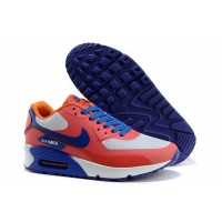 Women Air Max 90 Bright Citrus Total Crimson Hyper Blue