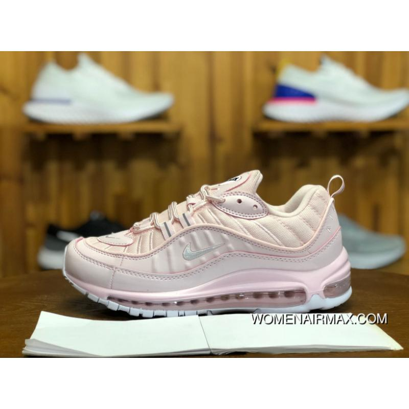 more photos fc544 93eb4 240 Nike Air Max 98 Triple White Cherry Blossom Sakura Pink Women Running  Shoes AJ6302-600 Size Latest