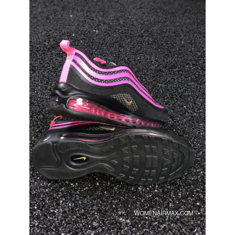 ... Nike Air Max 97 UL 17 GS Women Black And Pink Bullet Retro Sport  Running Shoes ...