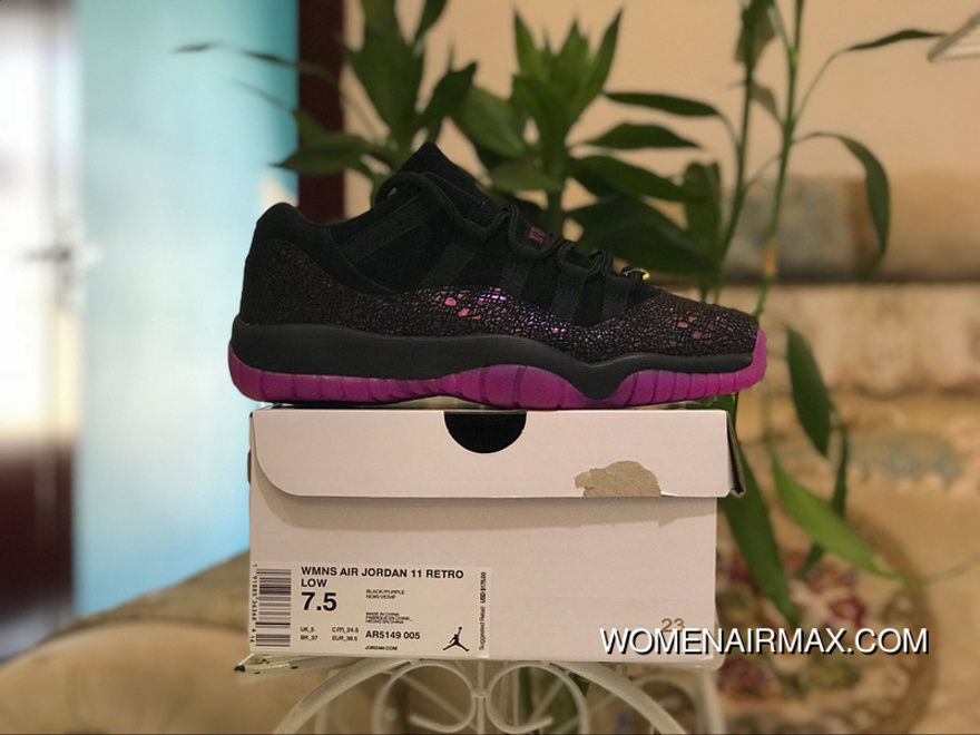 5e88f09922ea Aj11 Black Purple Blasting Crack Low Air Jordan 11 Low Think 1 Aj11 Low  Black Purple