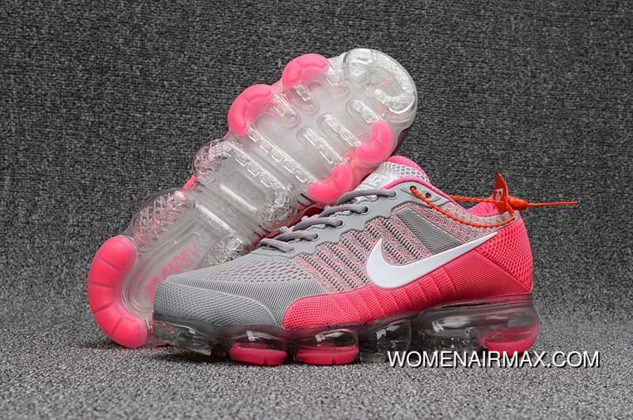 34fc602d561f7 Cheap Nike Air Vapormax Flyknit Cool Grey Pink 2018 For Girls New Release