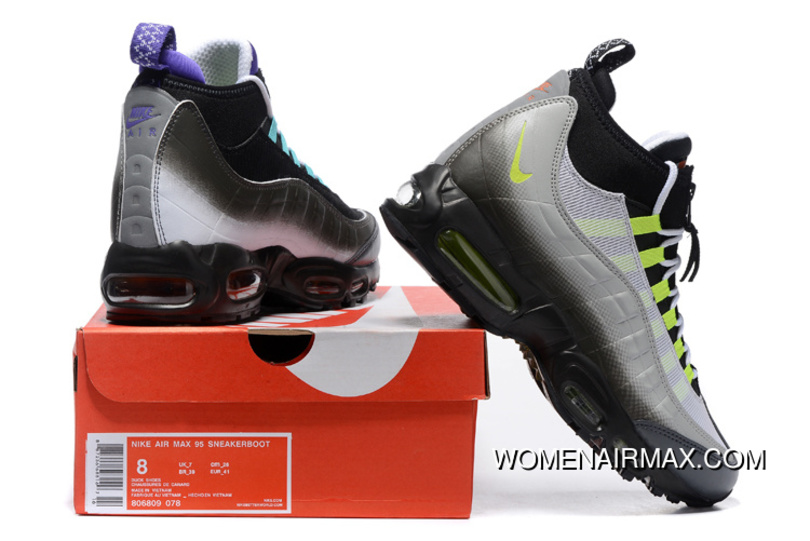0aae18ae6fb17 Men Running Shoes Nike Air Max 95 Sneakerboot Free Shipping
