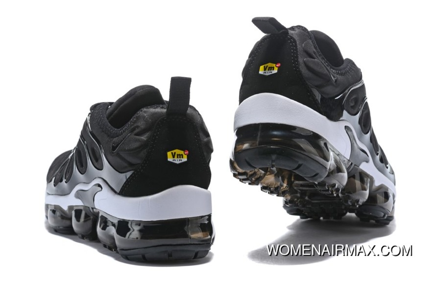 7a303bd5a1a New Nike Air Vapormax Plus Black White Mens Shoes Top Deals