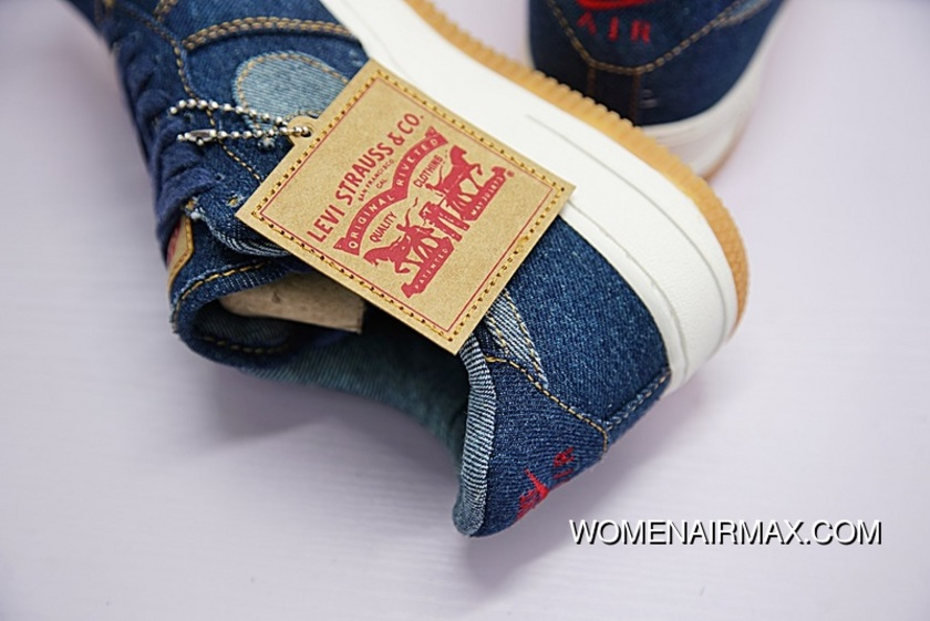 the latest b83fc 0b8c1 Cowboy Granddaddy Customized Brand To Be Levis X Nike Air Ce 1 Low Classic  All-match Sneakers Levis Jeans Blue AO2571-210 For Sale
