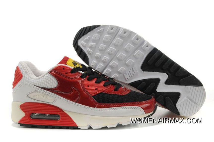 hot sale online 97242 82fa9 Womens Nike Air Max 90 Shoes Black Red White,nike Free 5.0 V4,nike Free Rn  Flyknit,Exclusive New Year Deals, Price   77.29 - Women Air Max - Nike  Women s ...