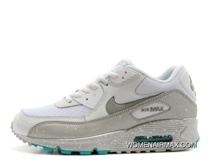 on sale 7f887 94c51 Regression Texture Nike Air Max 90 Womens White Silver Outlet