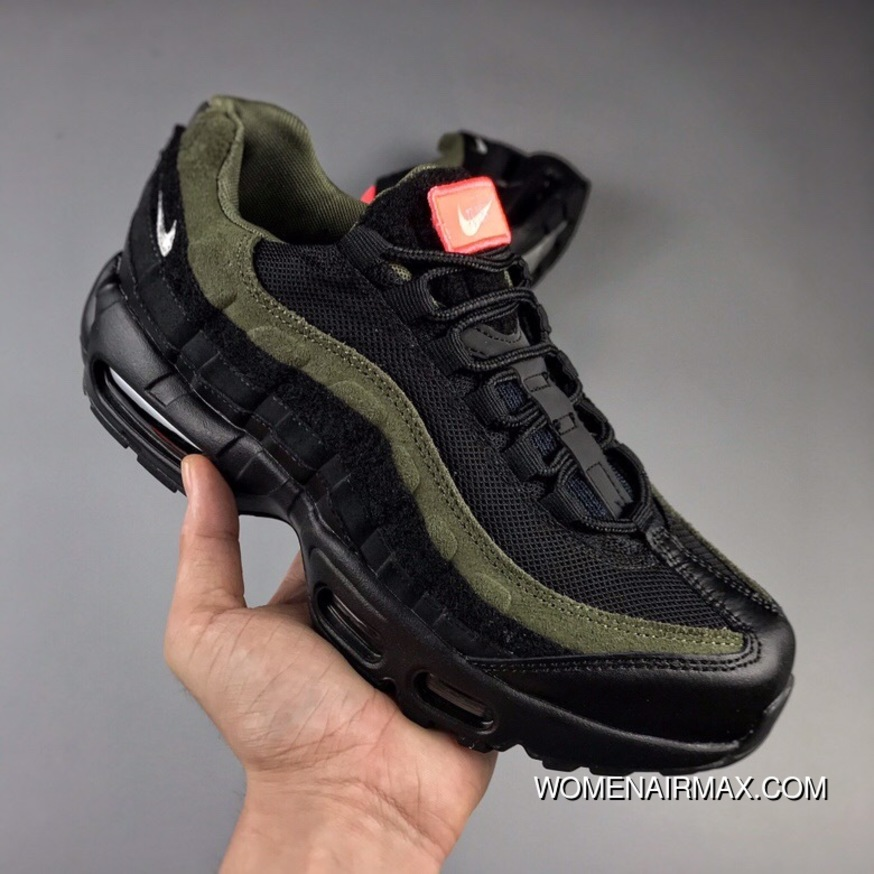 216e75b8d0 Nike Air Max 95 HAL 95 Retro Patches Zoom Jogging Shoes Devil Stick A Medal  Black Olive Green AH8444-001 New Style, Price: $87.15 - Women Air Max - Nike  ...