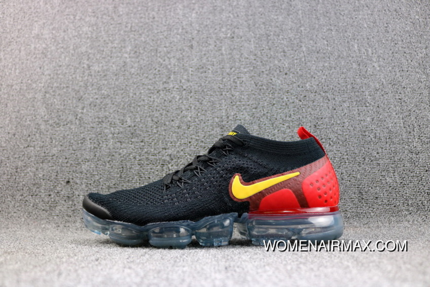 Nike Air VaporMax Flyknit 2018 2.0 Zoom Air Running Shoes Black Red Gold  Women Shoes And 946809496