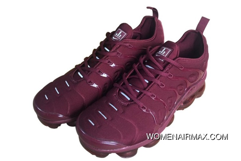 purchase cheap 0af16 8c595 Mens Nike Air Vapormax Plus Shoes Burgundy/Wine Red New Release