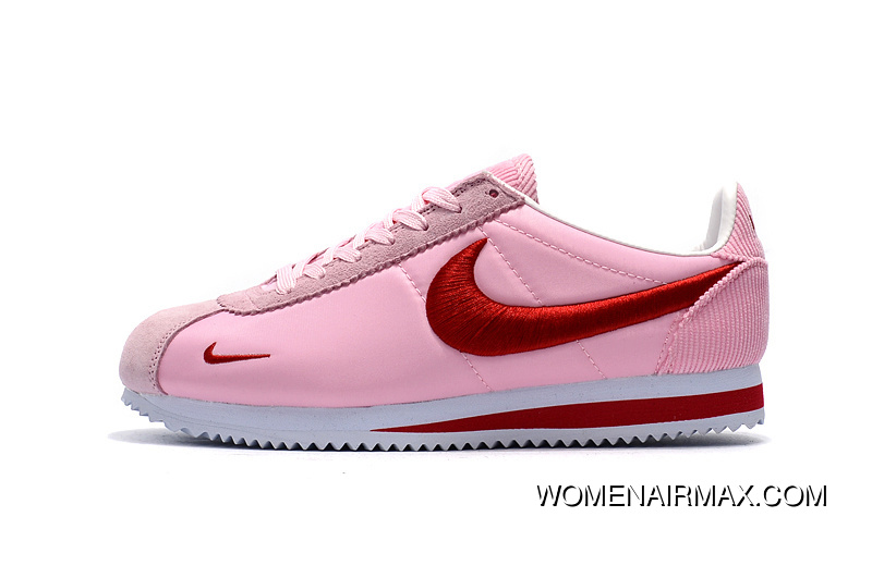 low priced 6817e a2f11 Nike Cortez Knit Electronic Embroidery Pink Red Free Shipping