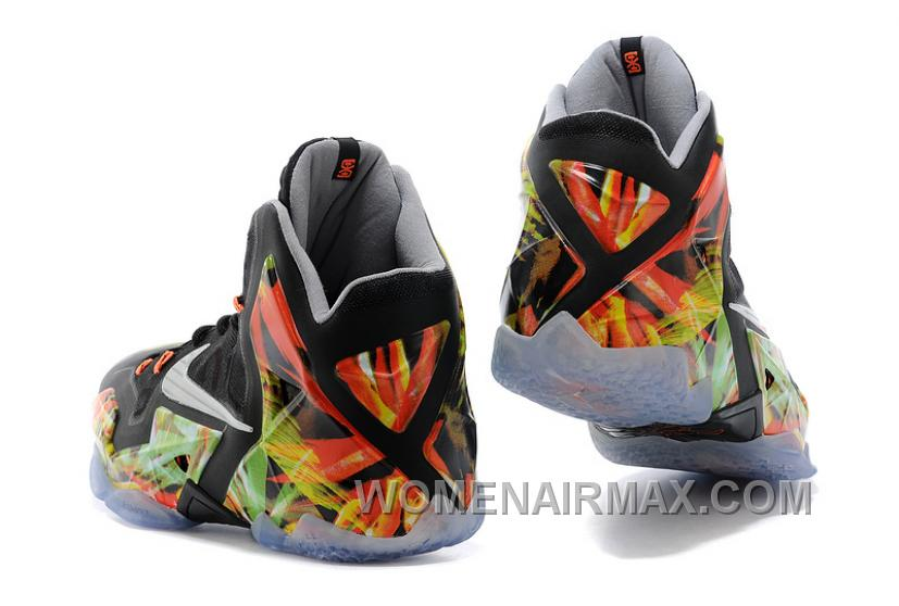 "Nike LeBron 11 ""Everglades"" Black/Metallic Silver-Wolf Grey-Atomic Mint For Sale Lastest SCsY5k"