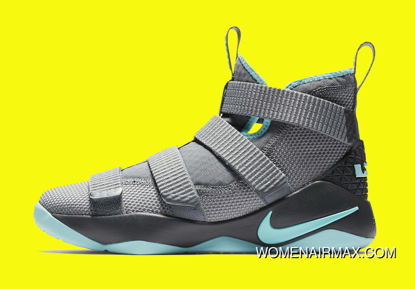 b04df1a5c32 2017 Nike LeBron Soldier 11 Cool Grey Igloo New Release