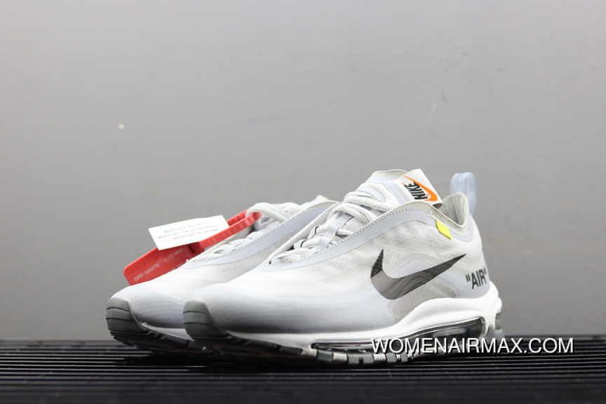 half off d83e4 39f5e OFF-WHITE X Nike Air Max 97 Collaboration Bullet Running Shoes AJ4585-002  Online