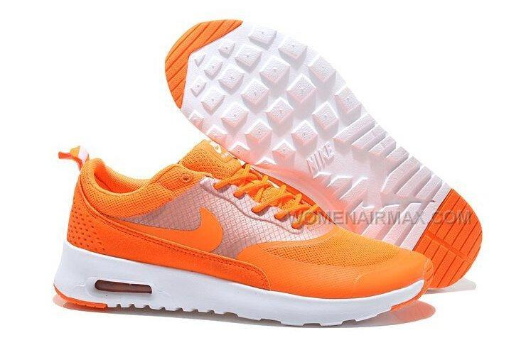 2015 Newest Nike Air Max 90 87 HYP PRM Womens Shoes Online Orange White
