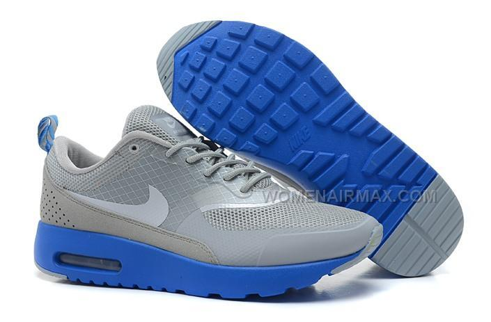 2014 New Nike Air Max 90 87 HYP PRM Womens Shoes Online Grey Blue