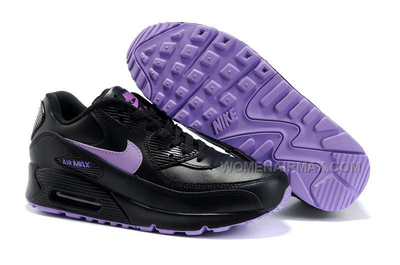 huge selection of 6b83a 425f8 Nike Air Max 90 Womens Shoes Wholesale Black Purple