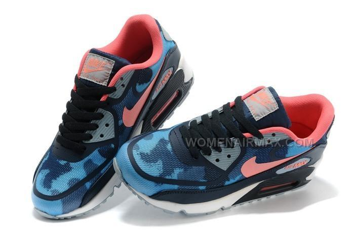 Nike Air Max 90 PREM TAPE Womens Shoes New Blue Pink