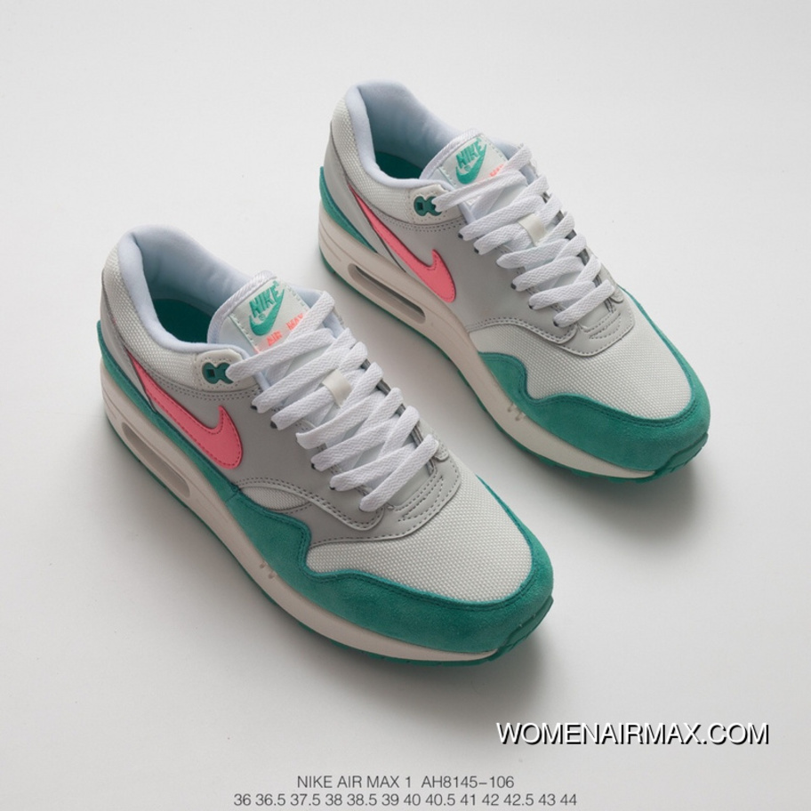best service dd727 7350f ... Women Shoes Nike Air Max 1 Anniversary Retro Zoom All-match Jogging  Shoes Green Watermelon Pink White Suede Version Material SKU AH8145-106 For  Sale