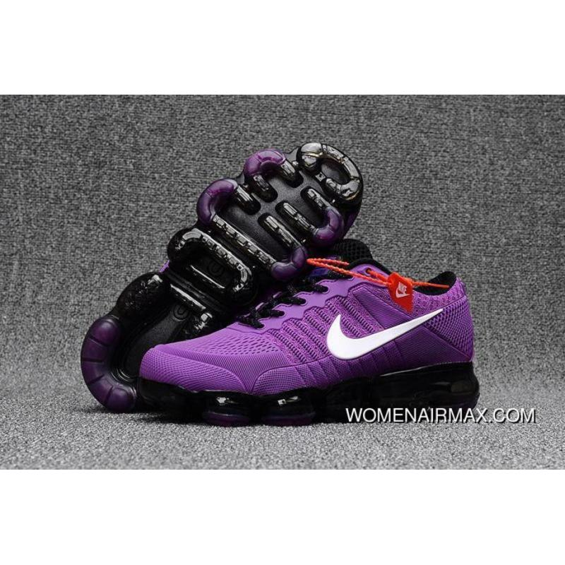 sports shoes 11948 9f783 Girls Nike Air Vapormax Flyknit 2018 Light Purple Black White New Release
