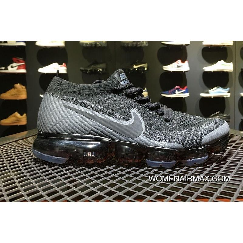 cb5101cc763 Cheap Nike Air VaporMax Wolf Grey Dark Grey Running Shoes For Sale ...