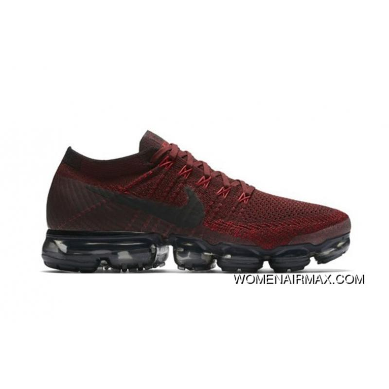 outlet store f1b85 be0f4 Man's Nike Air VaporMax In Red And Black 2018 Online