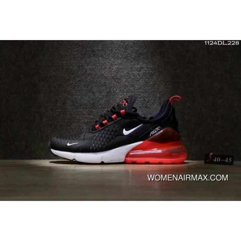21618ff65f5c6e 27 C Factory Wholesale Men Shoes Nike Max 270 Half-palm As Running Shoes  Black And Red Men Shoes Has Been Out Outlet