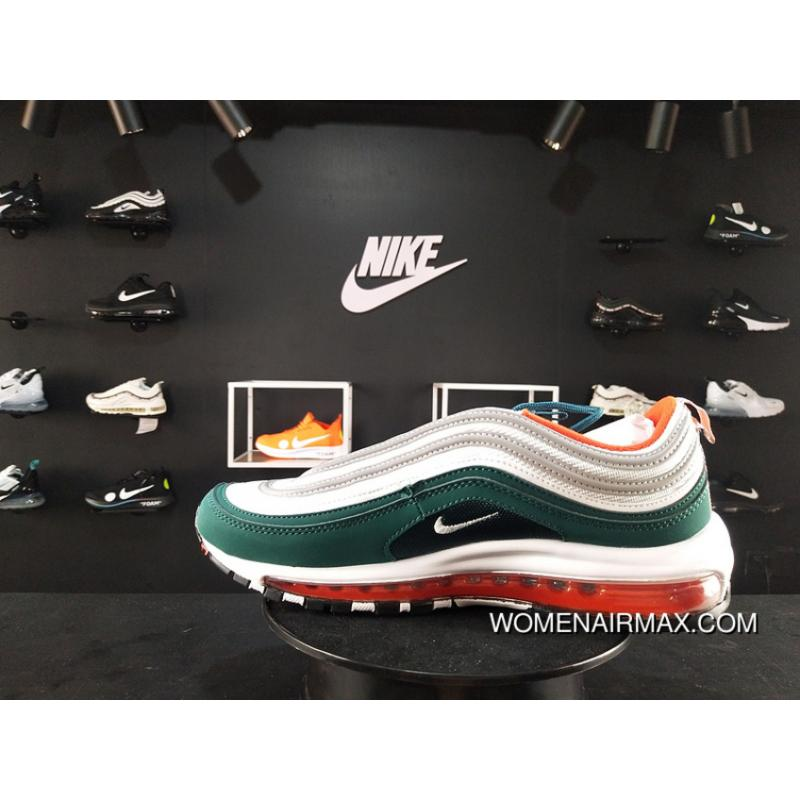 200 Nike Max 97 White Green Red Colorways Full-palm Cushion Men ... 93a7ad8db41a