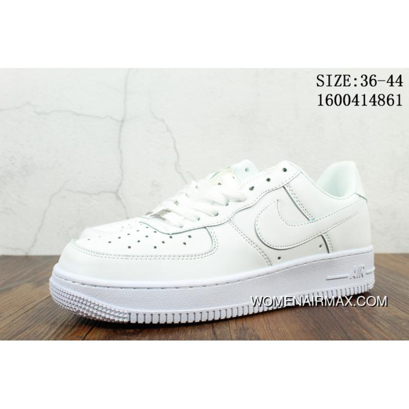 pretty nice 87b13 0e0b4 Action Leather Nike Air Force 1 Pure White One Women And Men Classic  Sneakers 315122-111-112 91960 Best