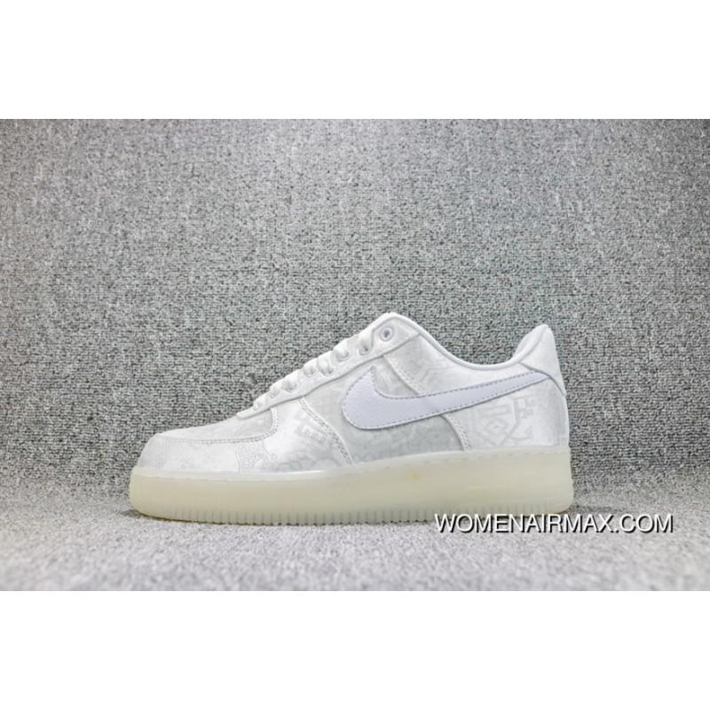 the best attitude 8b3b0 0fc16 Nike Air Force 1 AF1 X Clot Royale One Sneakers Edison Chen White Silk  Women Shoes And Men Shoes AQ088-100 Latest