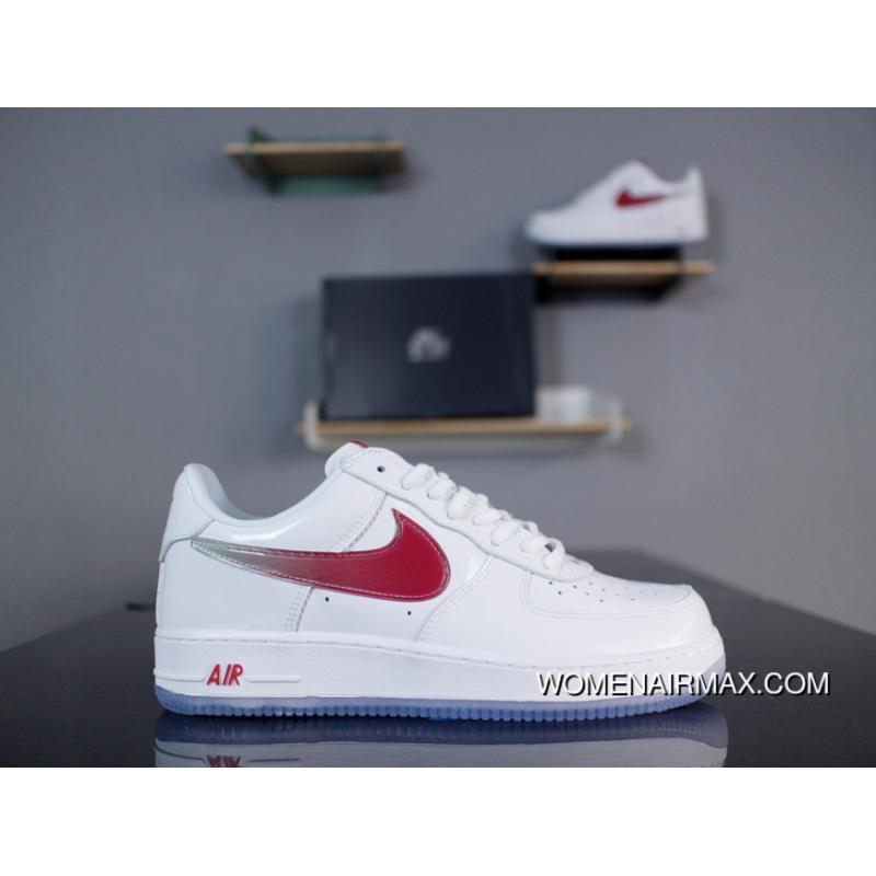hot sale online de3bd 96ef0 Nike Air Force 1 Low Retro 845053-105 White Gradient Wine Red Cats Eye Blue  Made In Taiwan Limited Patent AF1 One Low Here D The Wide Blue Crystal  Outsole ...