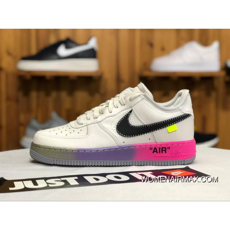 2516cb038c6f ... czech nike air force one af1 aj7748 600 rainbow men top layer calf  authentic latest 0fee8
