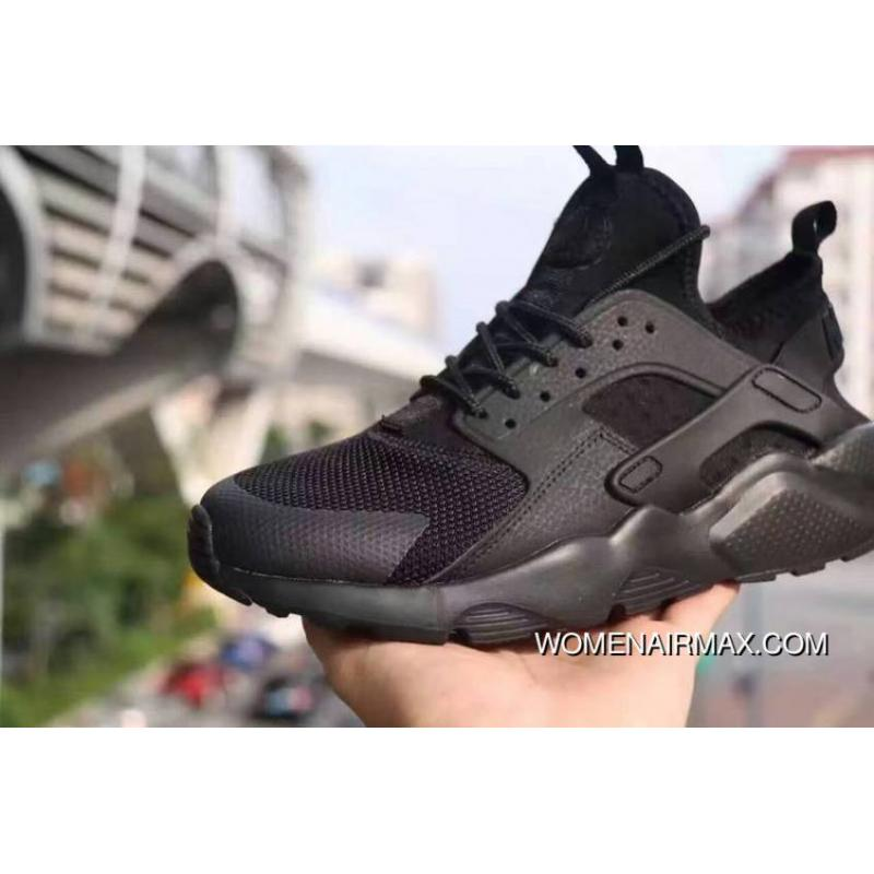 super popular 3b2f8 72497 Nike Air Huarache 4 All Black Women Men Outlet