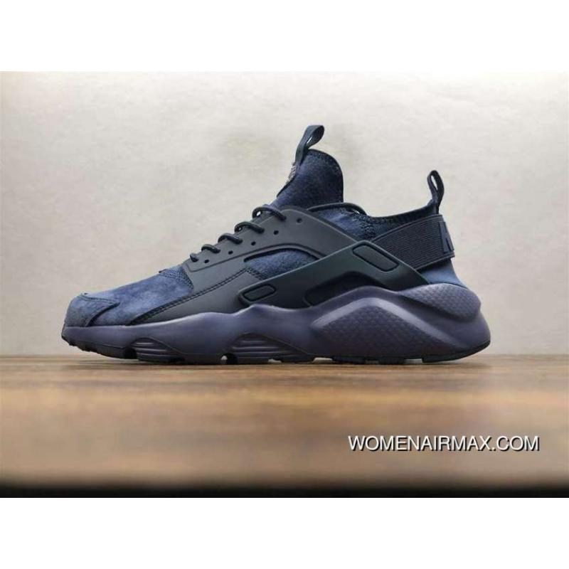 online store f82e3 9abaa Nike Air Huarache Pig Leather Material Running Shoes Navy Blue 829669-332  New Release