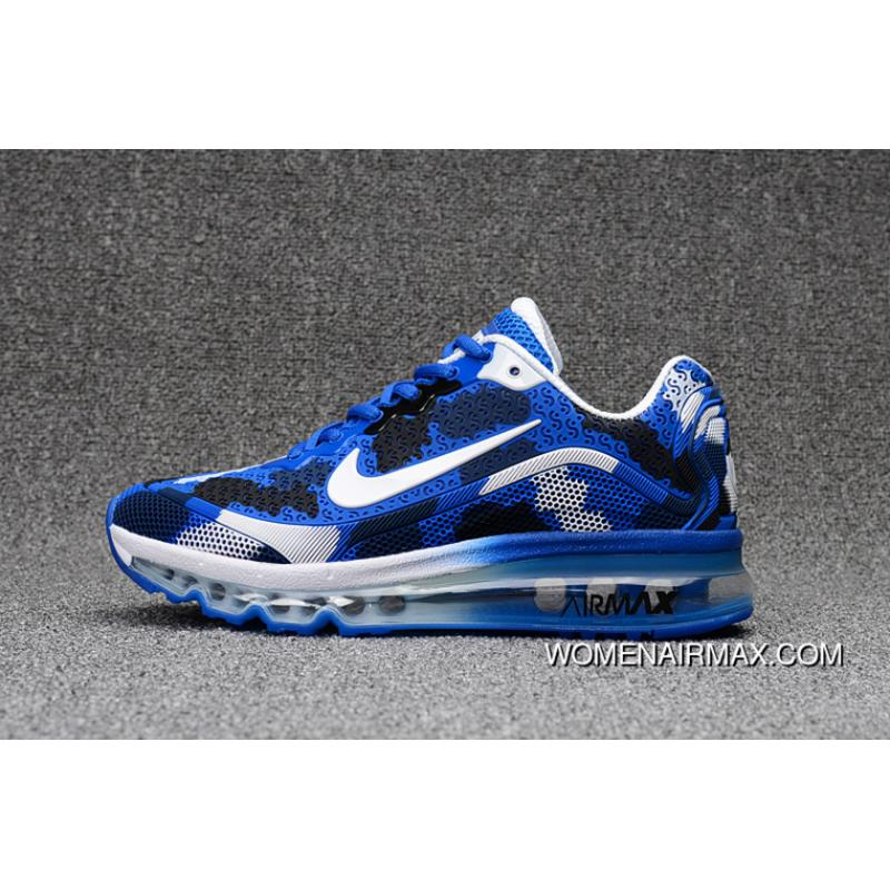 new concept 9e774 0544c Camo Blue White Hot Sale Nike AIR Max 2017 8 Nanotechnology Camo Technology  Material Durable Non-rupture Best