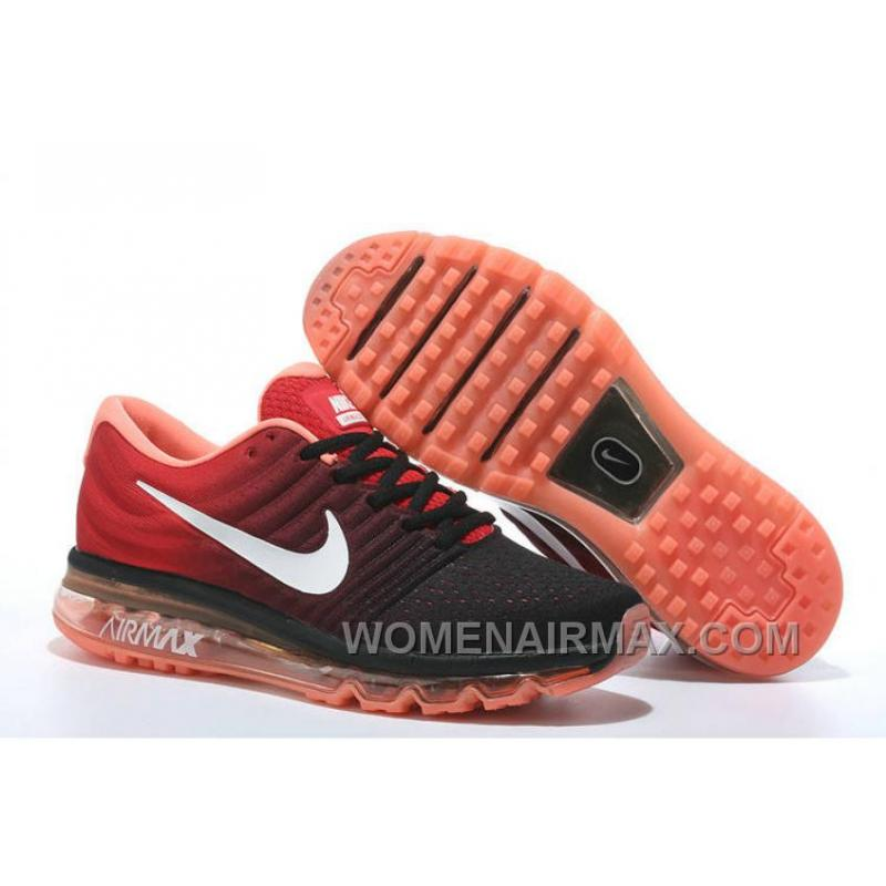 hot sales d3e57 79a5f Authentic Nike Air Max 2017 Black Red White Online SG5t4ZN
