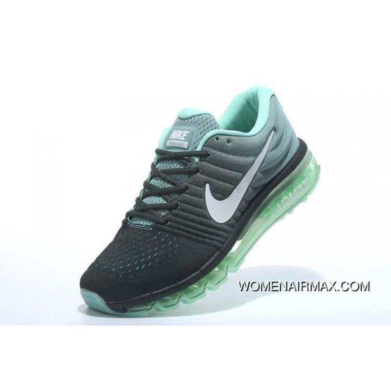 uk availability 9897a c721a Full-palm Cushion 2017 Nike AIR MAX Women And Men Running Shoes Casual  Sport Running Shoes Black Green Free Shipping