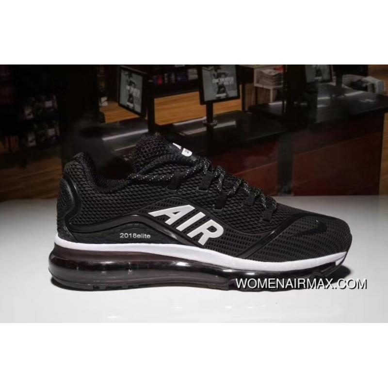 new styles 0b4c4 57a64 Black WHite Nike AIR MAX 2018 Nanotechnology PLASTIC Zoom Running Shoes New  Release