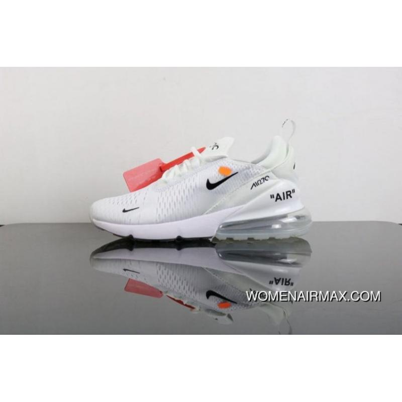 9454d63e94d2 USD  87.88  254.85. OFF-WHITE X Nike Air Max 270 Joint Heel Half-palm  Cushion Jogging Shoes ...
