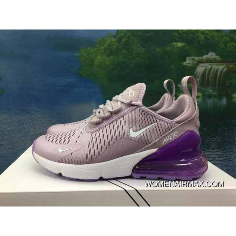 sports shoes ff289 4459a 120-1801-13 AH8050-510 Shallow Purple Women Shoes Nike 270 Half-270 Air Max  270 Palm As Anti-slip RB MD Suspension Support Insole Outlet
