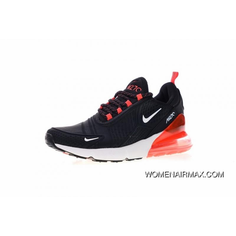 uk availability 797a2 08202 Men Shoes Nike Air Max 270 2.0 Series Heel Half-palm Cushion Jogging Shoes  HEAT SEAL Black And Orange Red White AH8060-016 Outlet