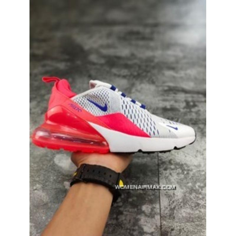 c3871967a59e Nike Air Max 270 AH6789-101 White Grey Navy Blue Mei Red SG Version TFboy  Chun-kai Wang Pan Zoom Heel Half-palm As Type Printing Precise Details Of  The ...