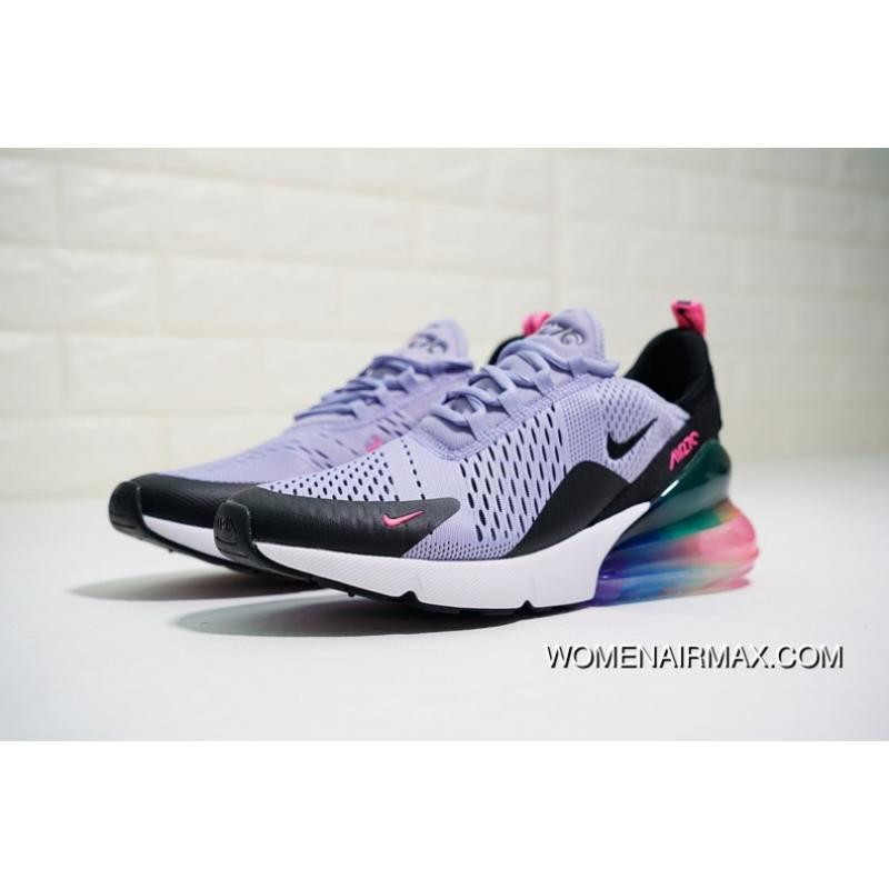 promo code f9375 878c6 Women Shoes And Men Shoes Dont Note Colorways Nike Air Max 270 Betrue After  Half-palm As Jogging Shoes Be True Light Purple Pink Black Rainbow ...