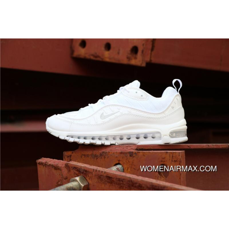 info for 4c610 6a4bf Nike Air Max 98 Series Air Zoom Jogging Shoes Triple White SKU 640744-106  For Sale