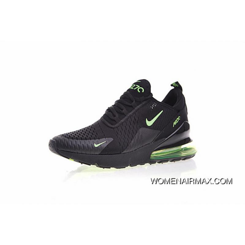 brand new 56249 5d256 Outlet Men Shoes Nike 2018 Ss Air Max 270 Series Heel Half-Palm Cushion  Jogging Shoes Black Lightning Green At The End Of AH8050-008