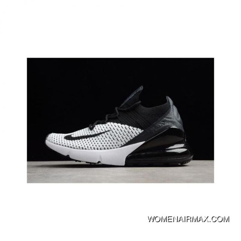 the latest 4cb54 daf37 Men's And Women's Nike Air Max 270 Flyknit White/Black Running Shoes Best